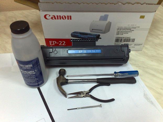 Лазерный принтер заправка картриджа своими руками